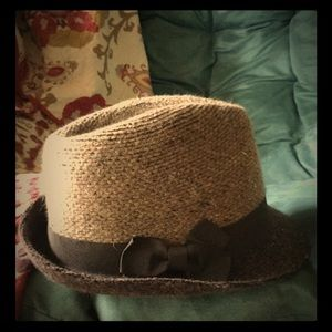 Accessories - Tweed style fedora with ribbon trim